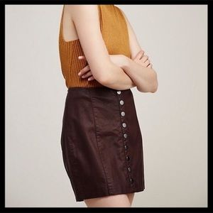 Free People Oh Snap Faux Leather Skirt